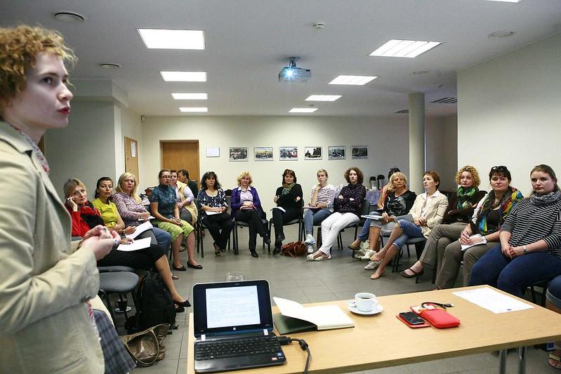 Mokymai Baltarusijos ir Ukrainos moterų teisių organizacijų atstovėms sėkmingos advokacijos komunikavimo tema