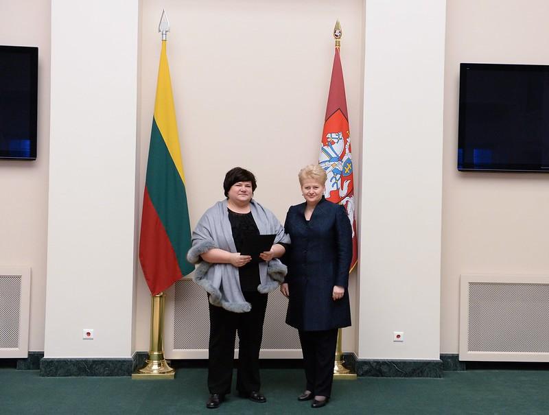 Prezidentės padėka RESC už indėlį Lietuvos pirmininkavimo ES Tarybai laikotarpiu