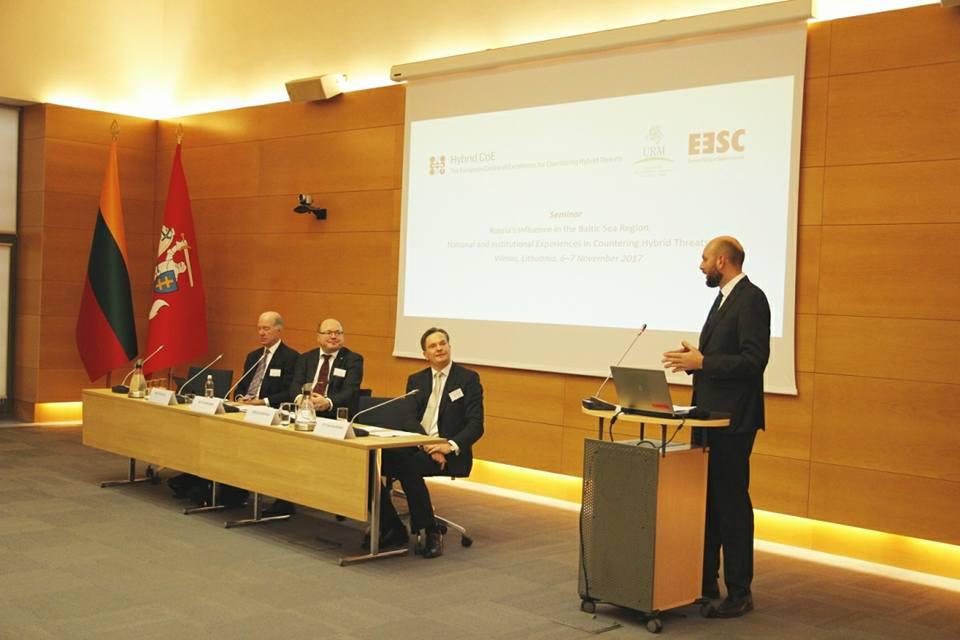 """Seminaras """"Rusijos įtaka Baltijos jūros šalių regione: nacionalinės ir institucinės patirtys kovoje su hibridinėmis gėsmėmis"""""""
