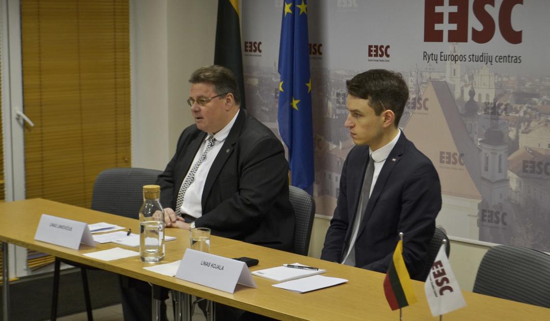 Užsienio reikalų ministras Linas Linkevičius lankėsi Rytų Europos studijų centre