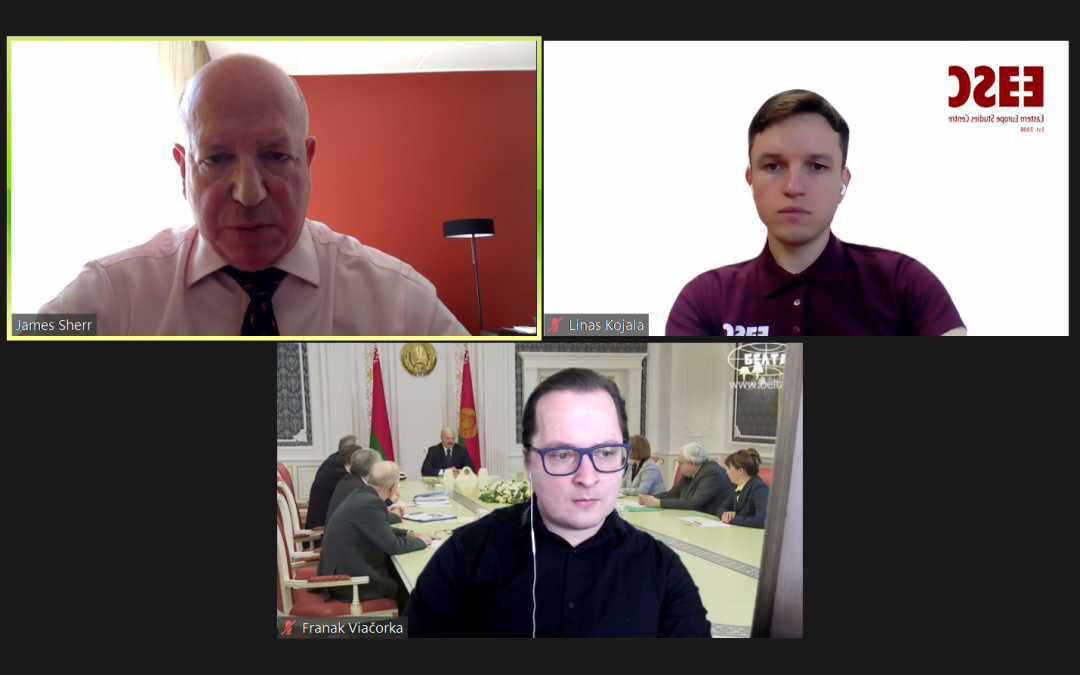 "Vyko virtualus seminaras ""Baltarusijos politika: COVID-19, ekonomika, Rusija"""