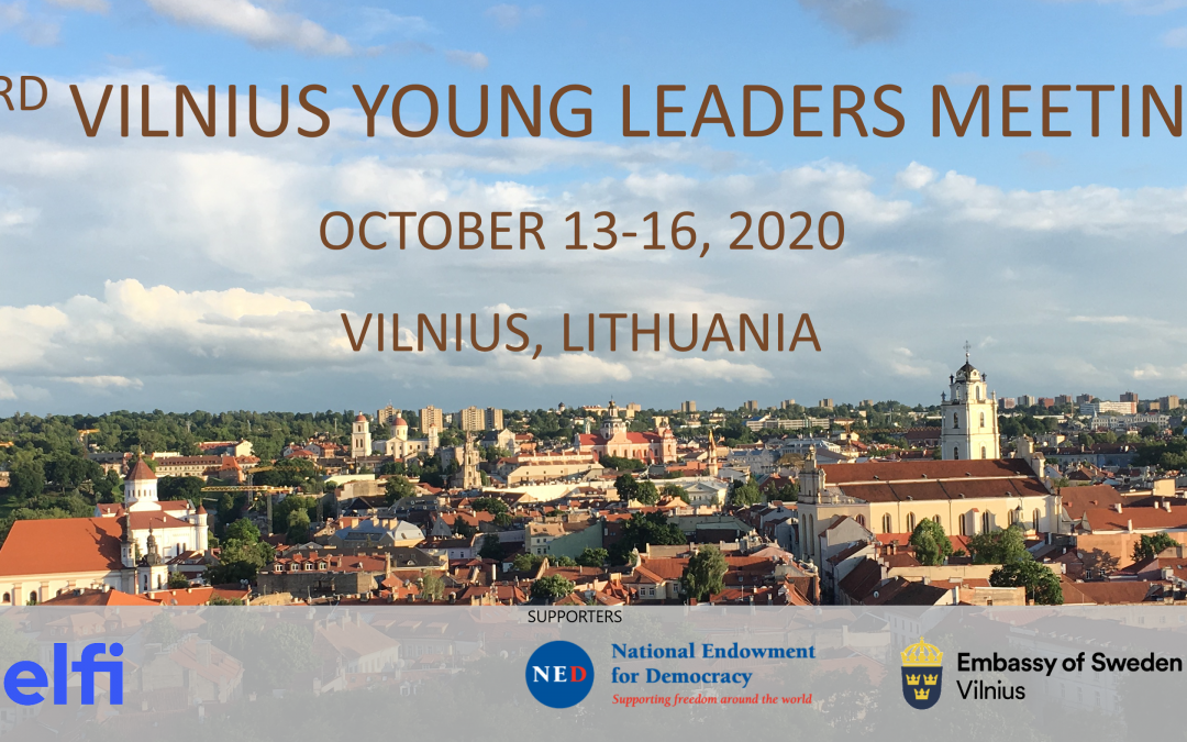 Call for applications for the 3rd Vilnius Young Leaders Meeting