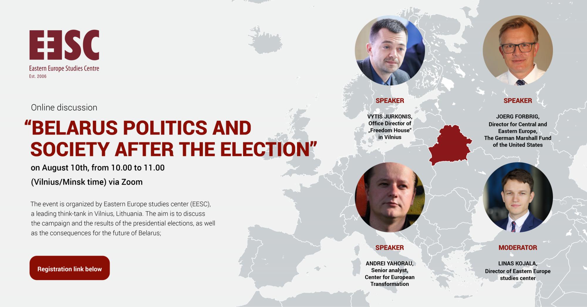 Kviečiame registruotis į virtualų seminarą – Baltarusijos politika ir visuomenė po balsavimo