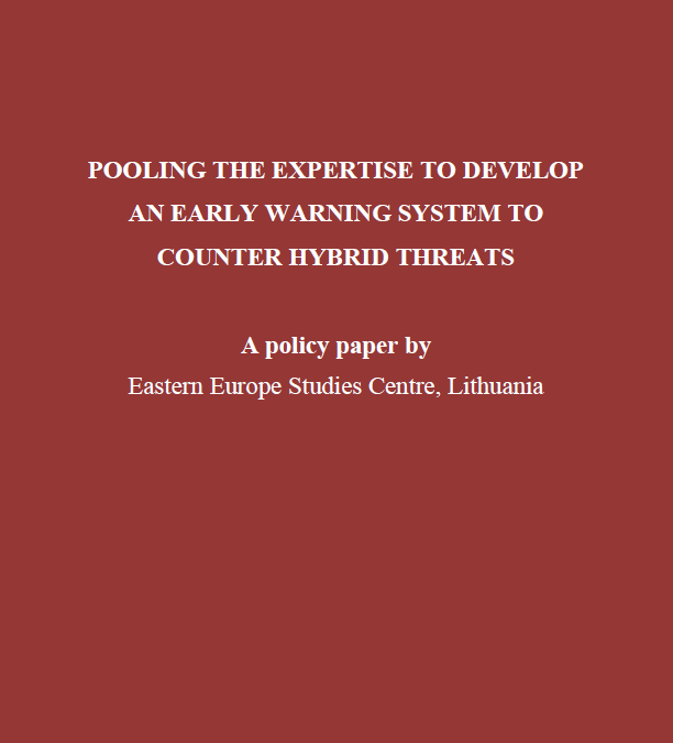 Pooling the Expertise to Develop an Early Warning System to Counter Hybrid Threats