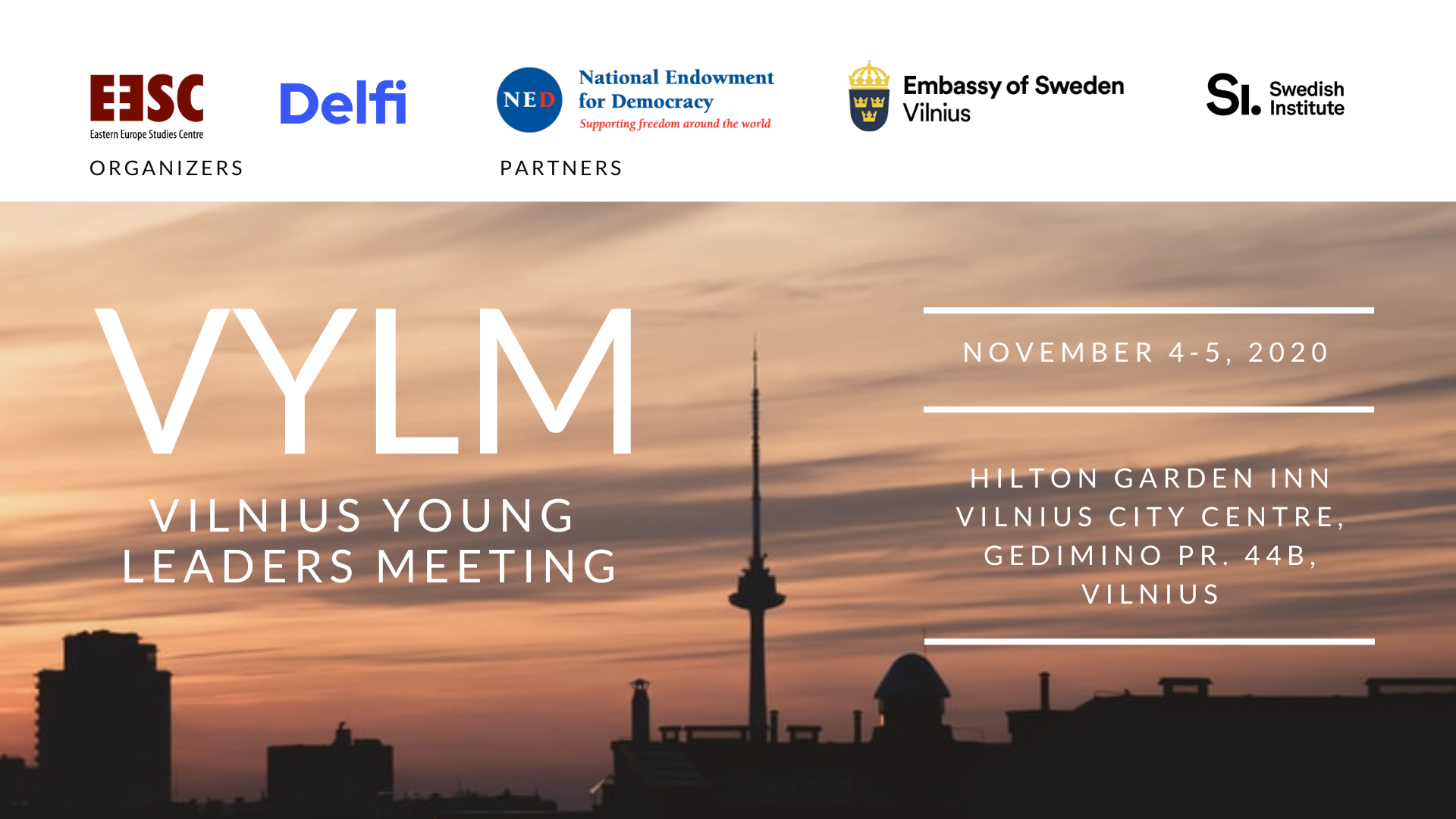 Invitation to register for the Vilnius Young Leaders Meeting discussion cycle