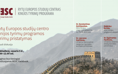 LIETUVA IR KINIJA: RESC Kinijos tyrimų programos darbai 2020 metais
