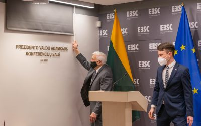 The Eastern Europe Studies Centre unveils the President V. Adamkus Conference Hall