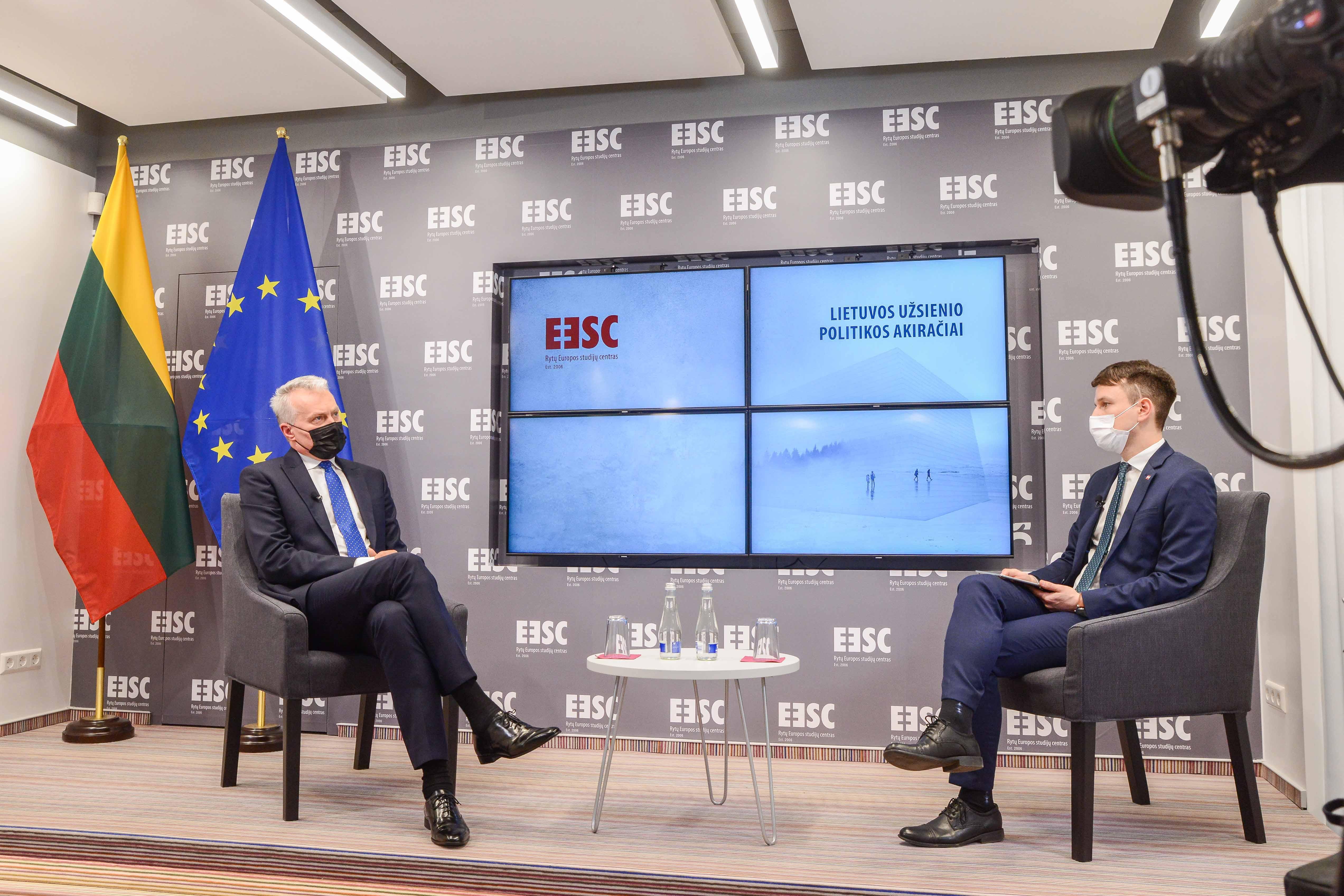 Pirmoji Lietuvos užsienio politikos akiračių ciklo diskusija. Svečiuose – LR Prezidentas Gitanas Nausėda