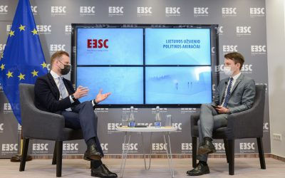 Lithuanian Foreign Policy Outlook discussion featuring the Minister of Foreign Affairs of Lithuania Gabrielius Landsbergis