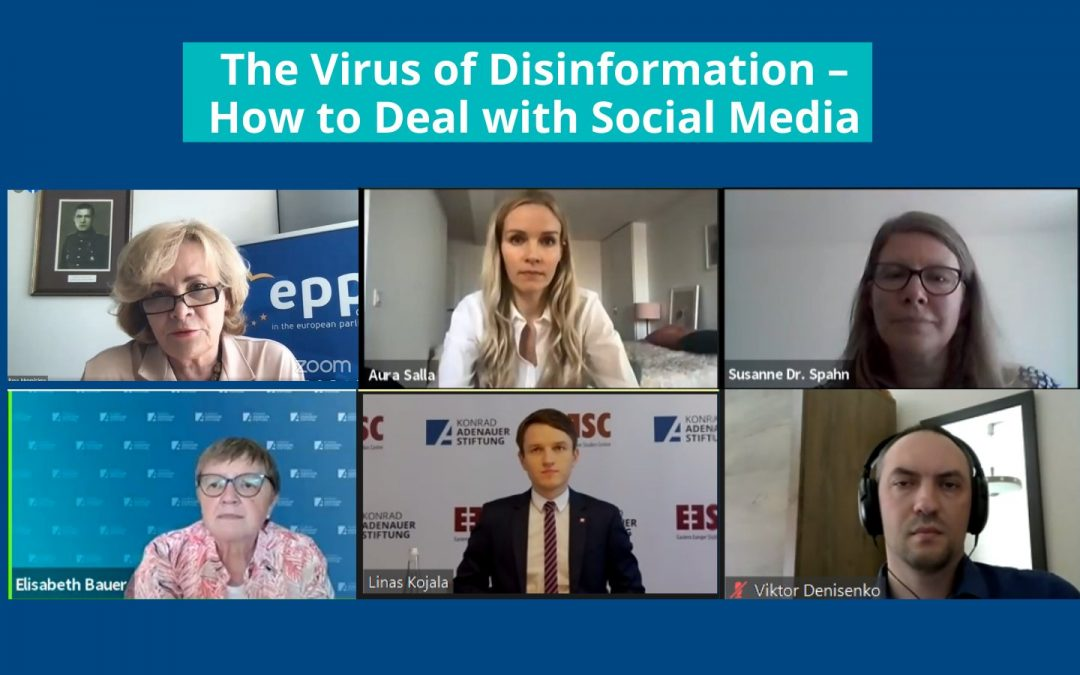 "Įvyko diskusija ""The Virus of Disinformation – How to Deal with Social Media"""