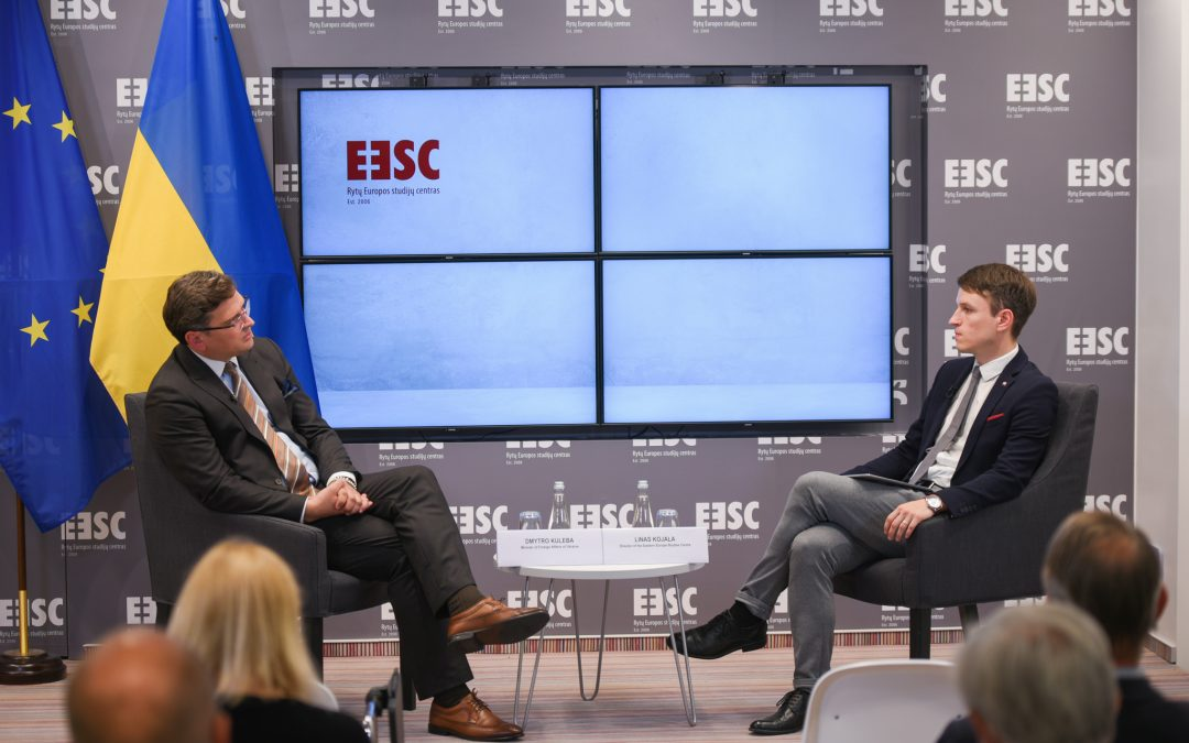 Susitikimas su Ukrainos užsienio reikalų ministru Dmytro Kuleba
